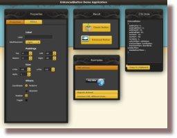 Open the EnhancedButton demo application